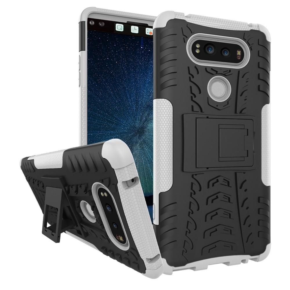 Billede af LG V20 InCover TPU Hybrid Cover m. Stand - Sølv