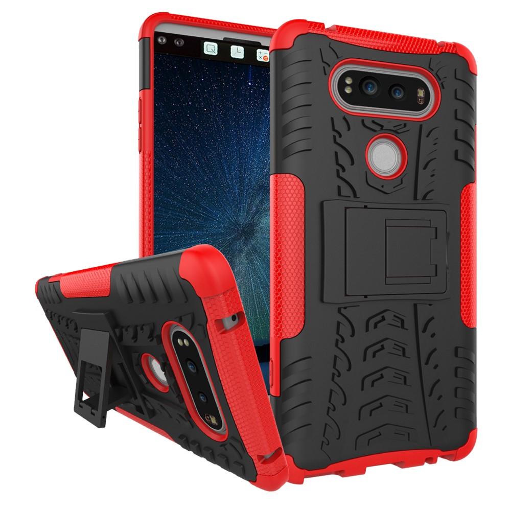 Billede af LG V20 InCover TPU Hybrid Cover m. Stand - Rød