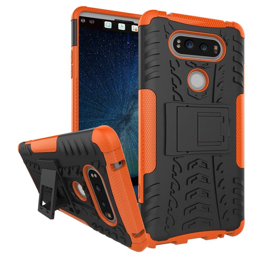 Billede af LG V20 InCover TPU Hybrid Cover m. Stand - Orange
