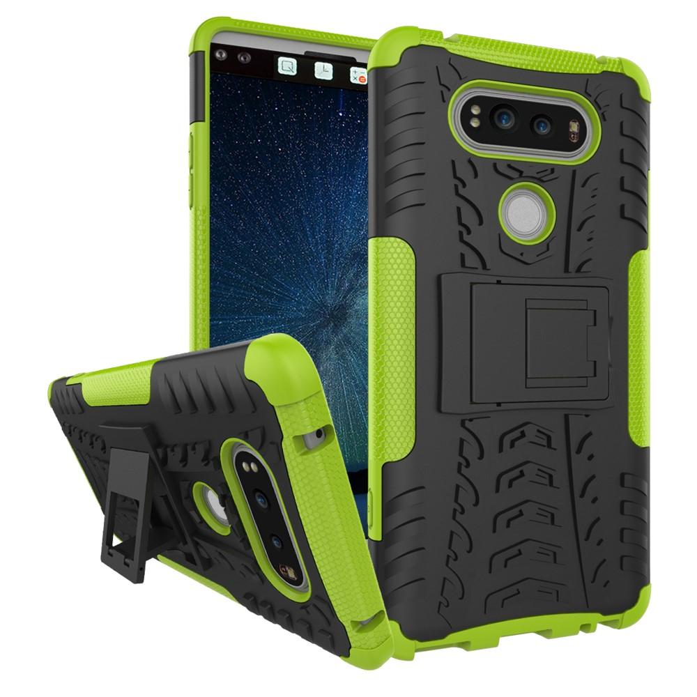 Billede af LG V20 InCover TPU Hybrid Cover m. Stand - Grøn