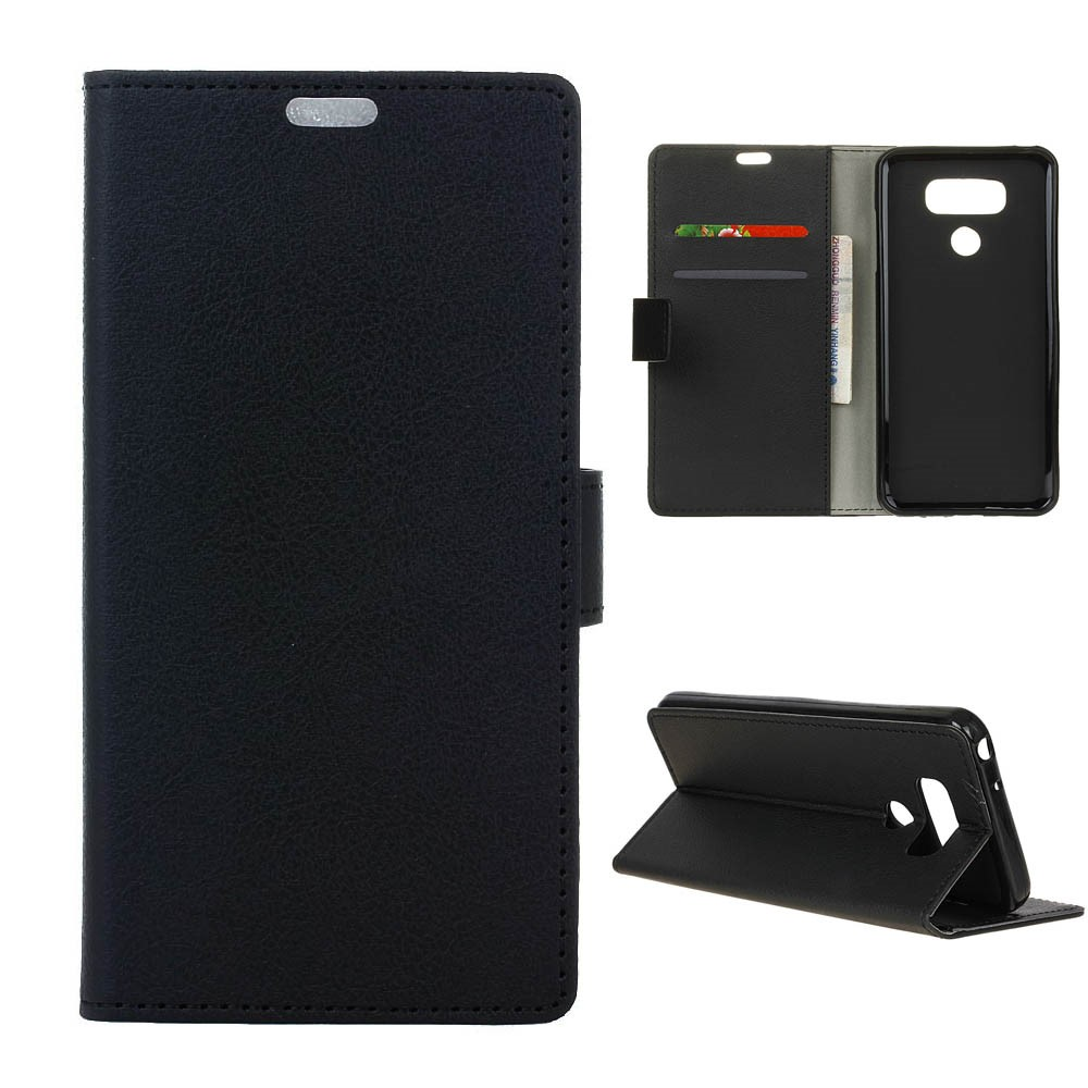 Billede af LG G6 PU læder FlipCover m. Kortholder - Sort