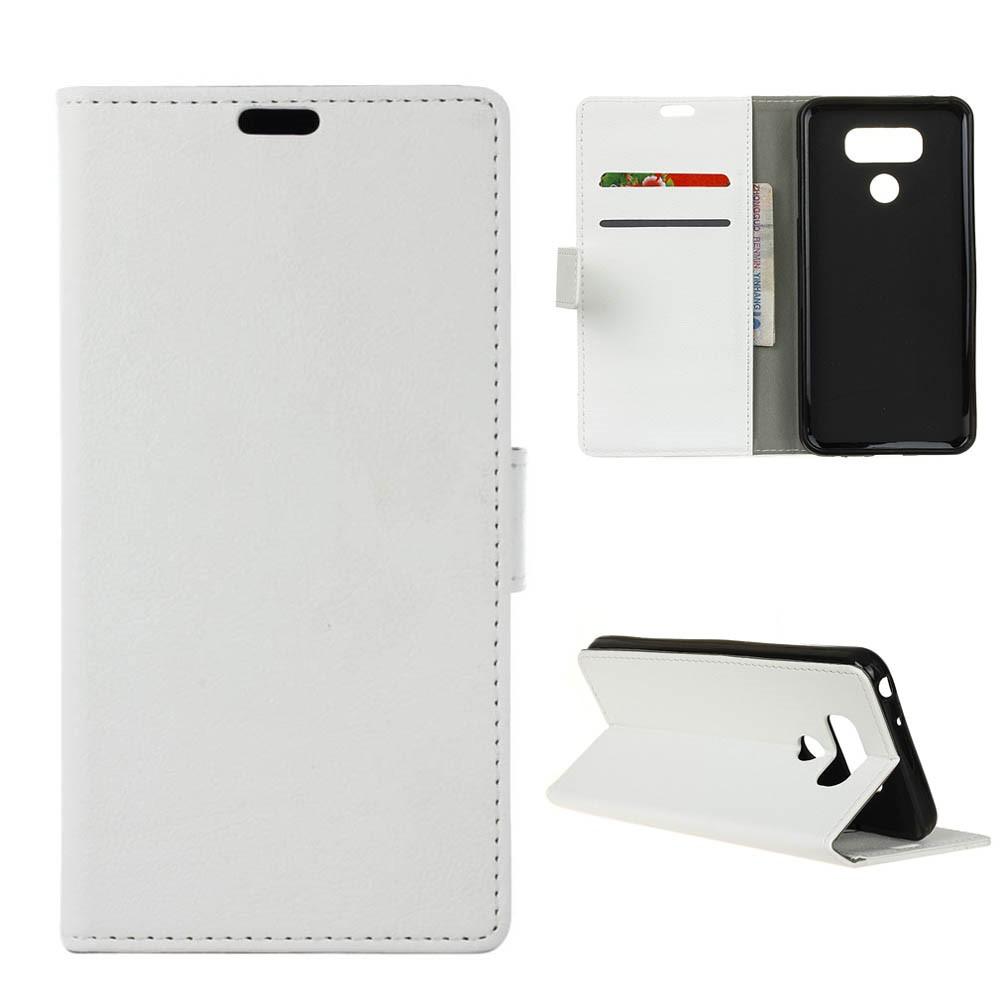 Billede af LG G6 PU læder FlipCover m. Kortholder - Hvid