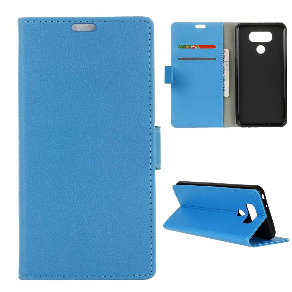 Billede af LG G6 PU læder FlipCover m. Kortholder - Blå
