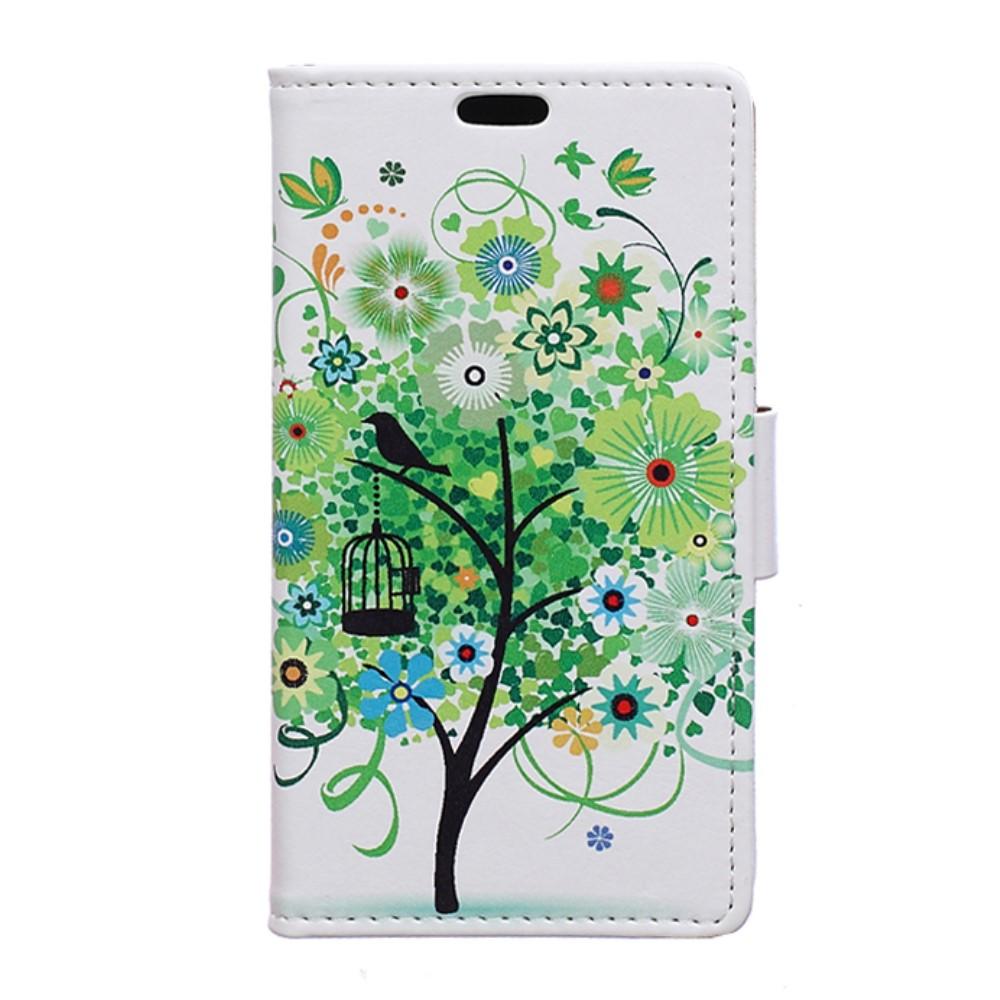 Billede af LG G6 PU læder FlipCover m. Kortholder - Green Tree