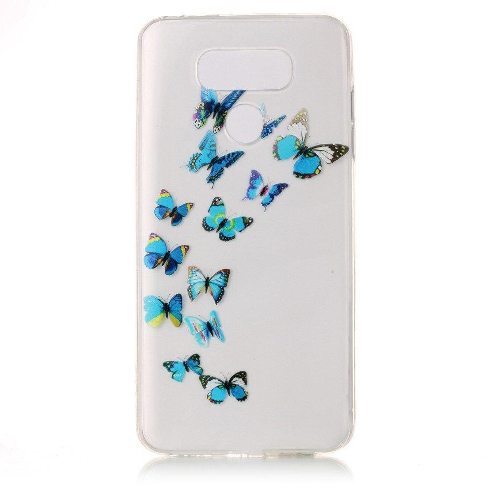 Billede af LG G6 InCover TPU Cover - Blue Butterflies