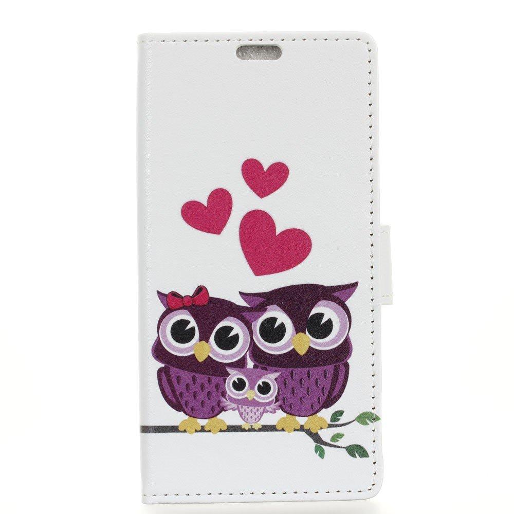 Image of HTC U11 Plus Design Flip Cover med Pung - Owls