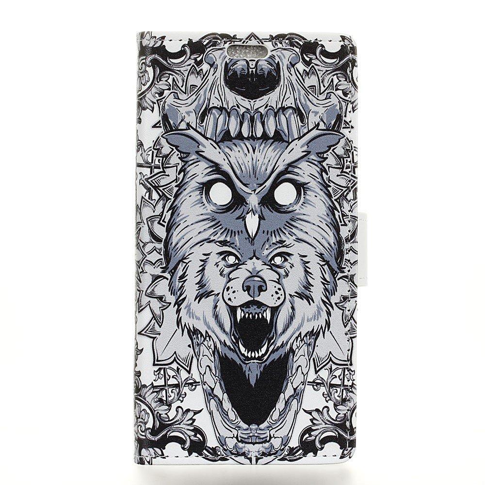 Image of HTC U11 Plus Design Flip Cover med Pung - Owl and Lion