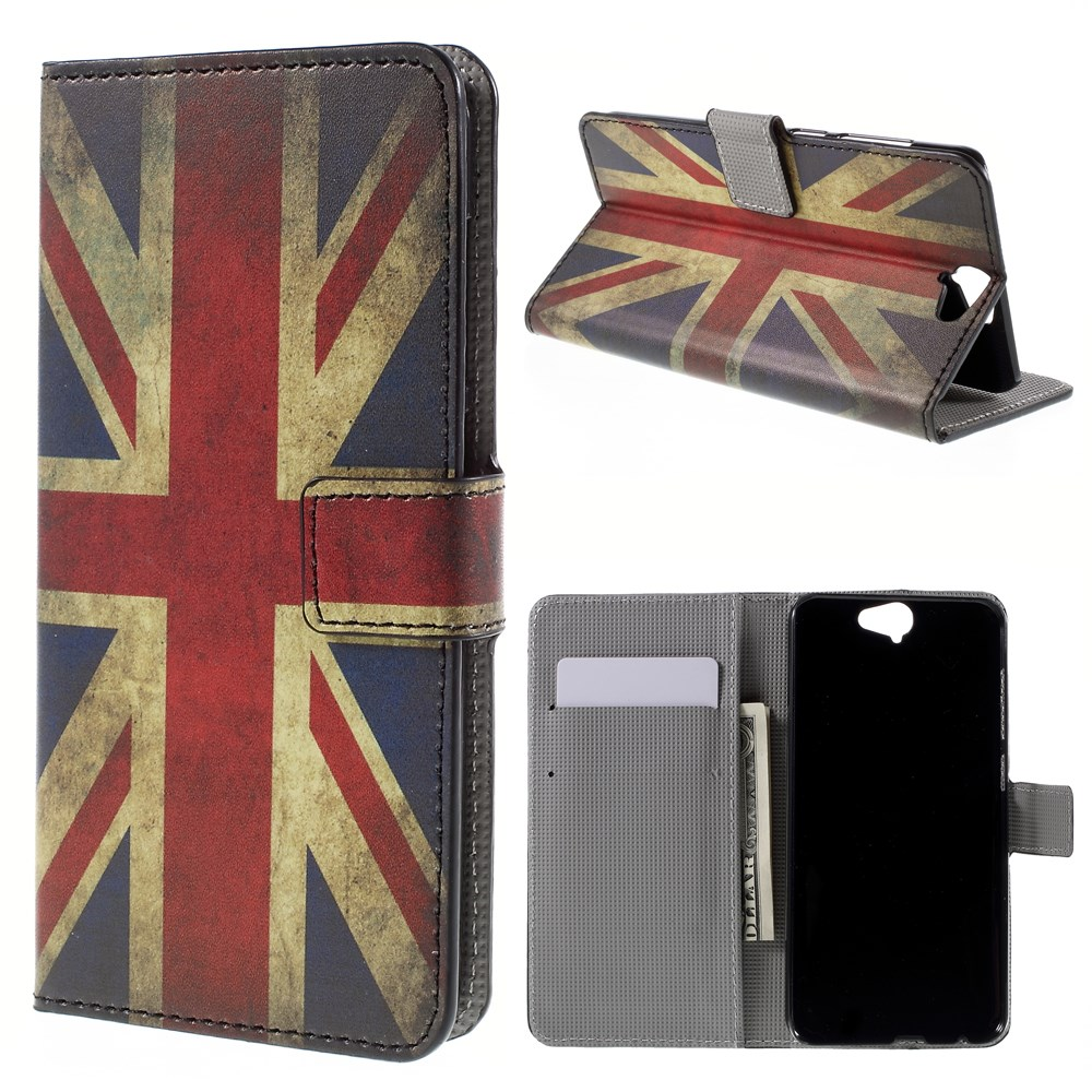 Image of HTC One A9 Design Flip Cover m. Stand - Union Jack