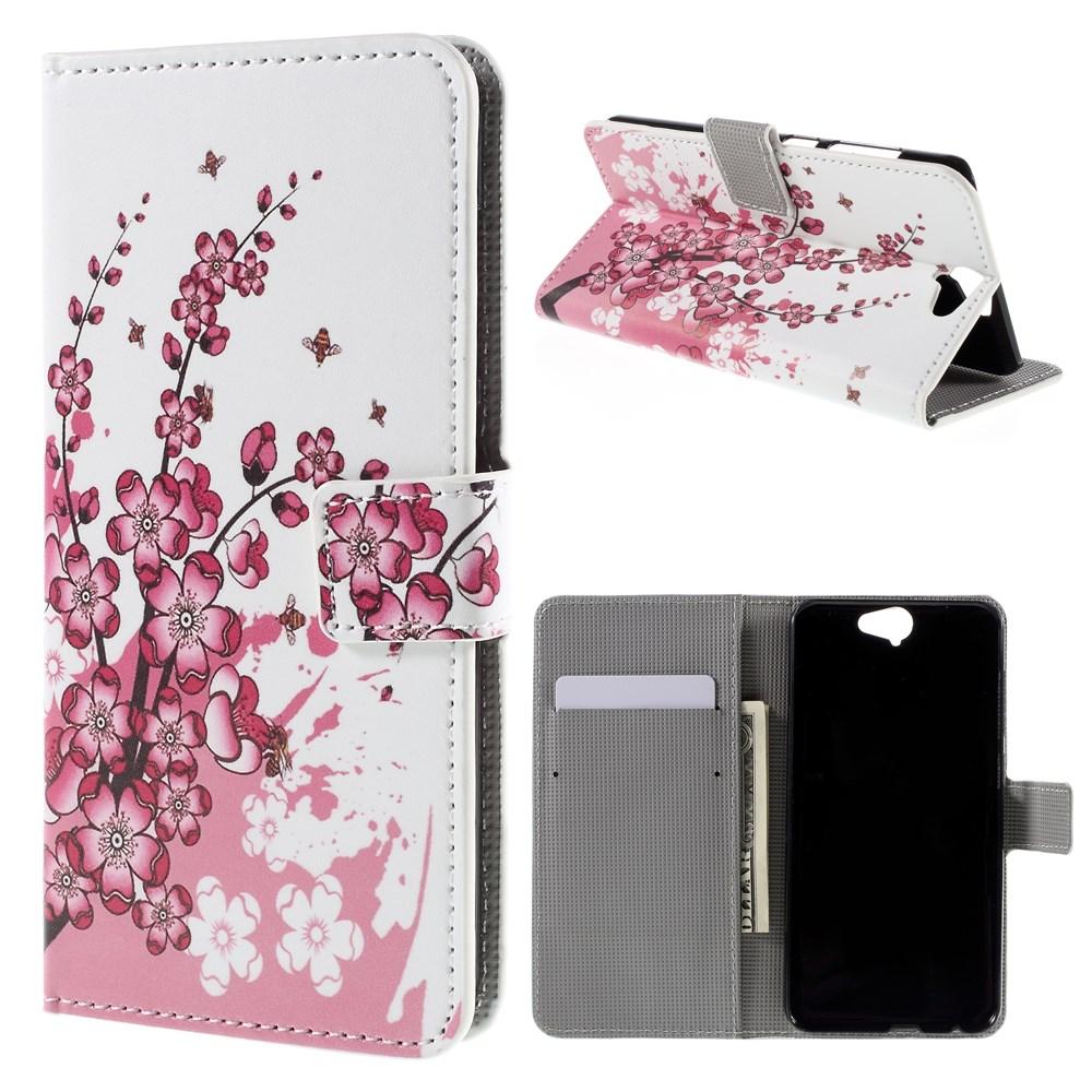 Image of HTC One A9 Design Flip Cover m. Stand - Plum Blossom