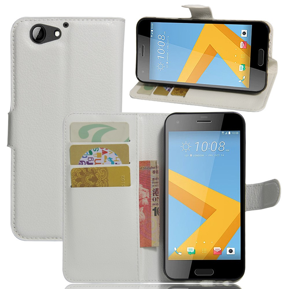 Image of HTC One A9s Litchi Flip Cover Med Pung - Hvid