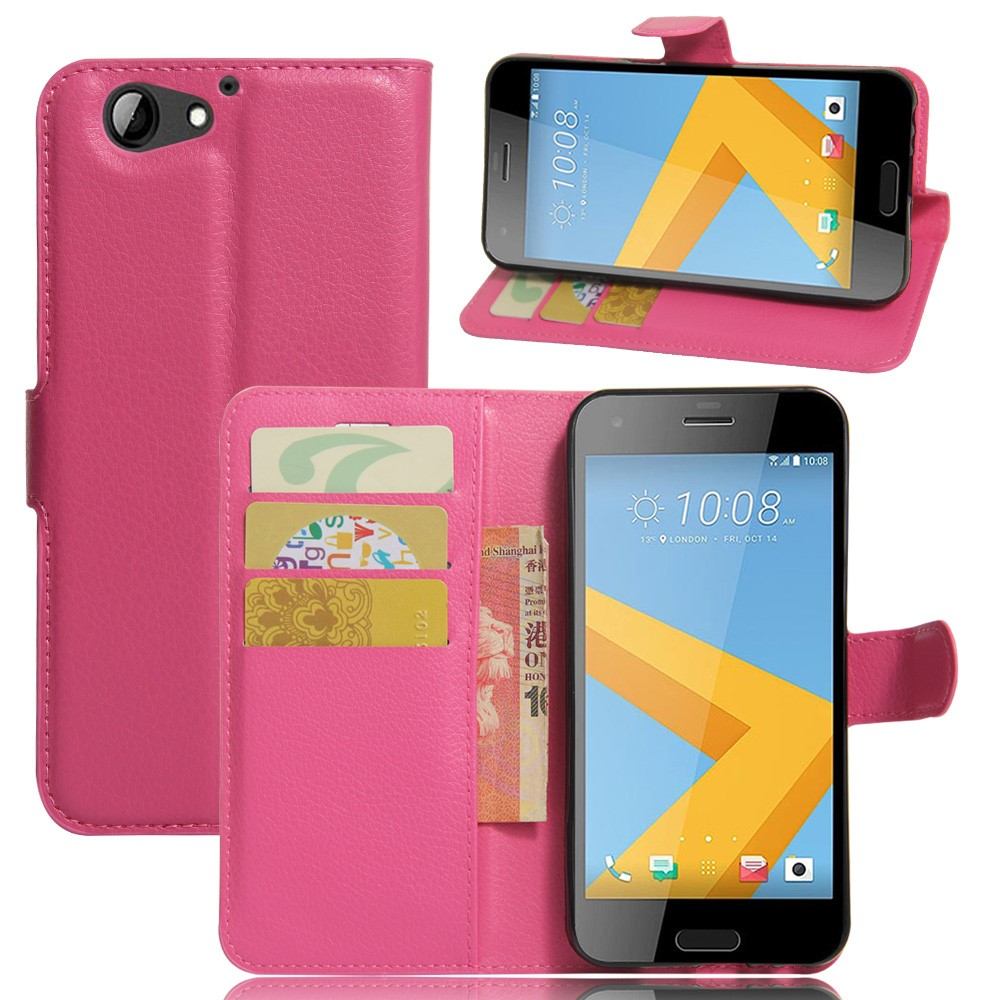 Image of HTC One A9s Litchi Flip Cover Med Pung - Rosa