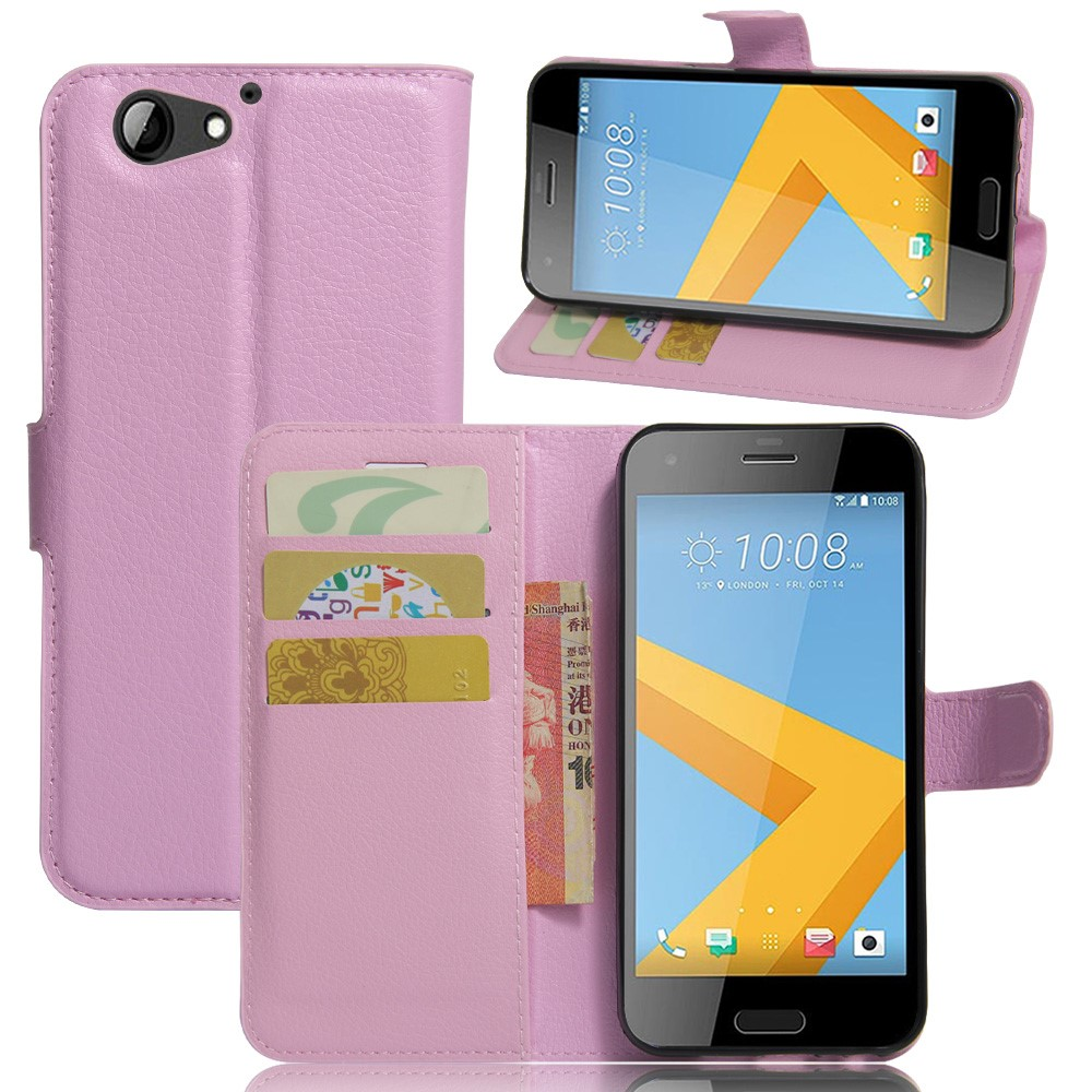Image of HTC One A9s Litchi Flip Cover Med Pung - Pink
