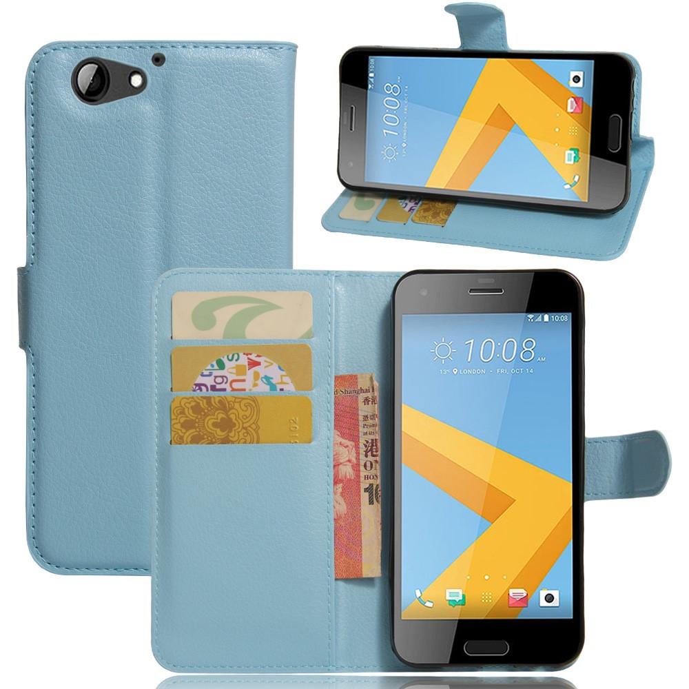 Image of HTC One A9s Litchi Flip Cover Med Pung - Blå