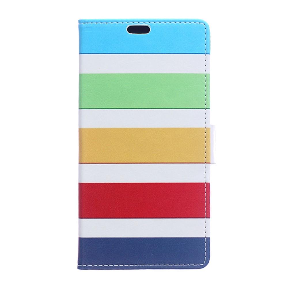 Billede af HTC 10 Evo PU Læder FlipCover m. Kortholder - Colorful Stripes
