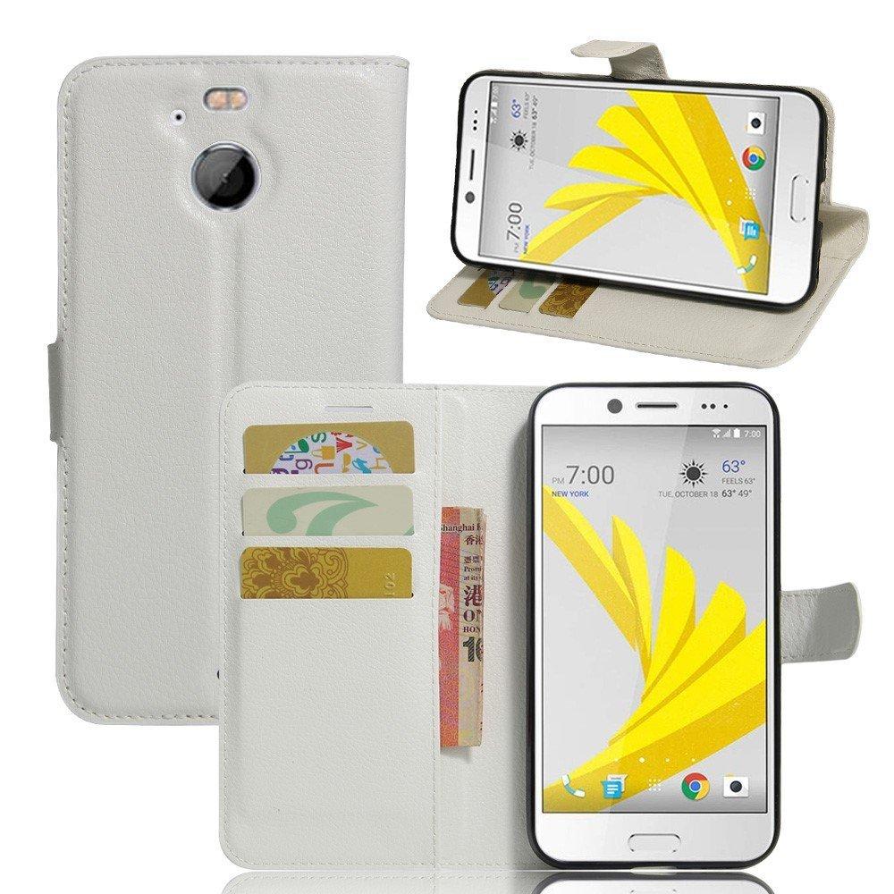 Billede af HTC 10 Evo PU Læder FlipCover m. Kortholder - Hvid