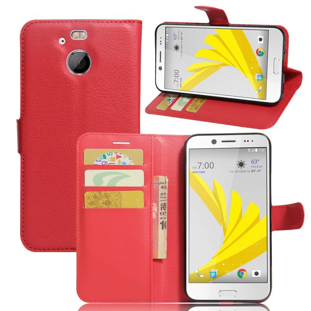 Billede af HTC 10 Evo PU Læder FlipCover m. Kortholder - Rød