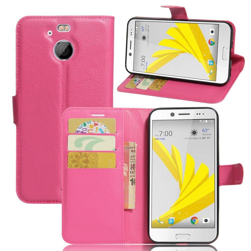 Billede af HTC 10 Evo PU Læder FlipCover m. Kortholder - Rosa