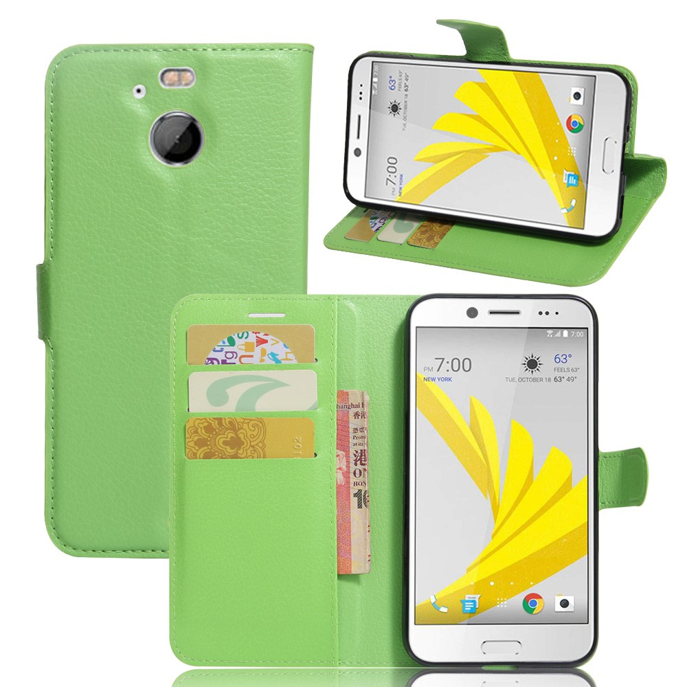 Billede af HTC 10 Evo PU Læder FlipCover m. Kortholder - Grøn