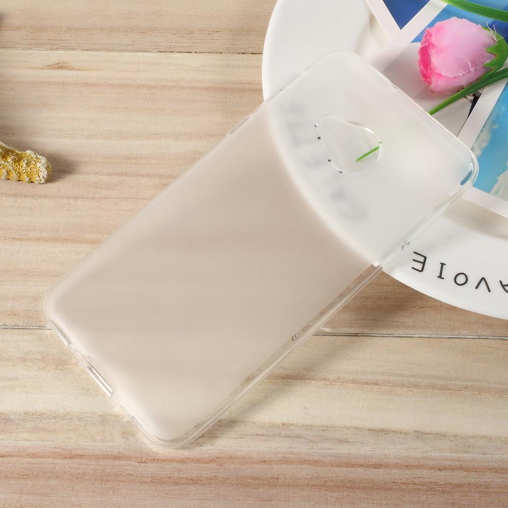 Image of HTC U Play InCover Mat TPU Cover - Hvid/gennemsigtig