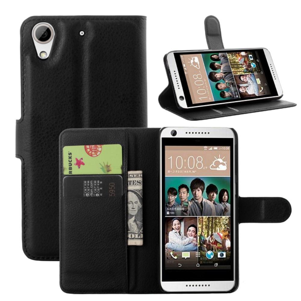 Image of HTC Desire 650 PU læder FlipCover m. Kortholder - Sort