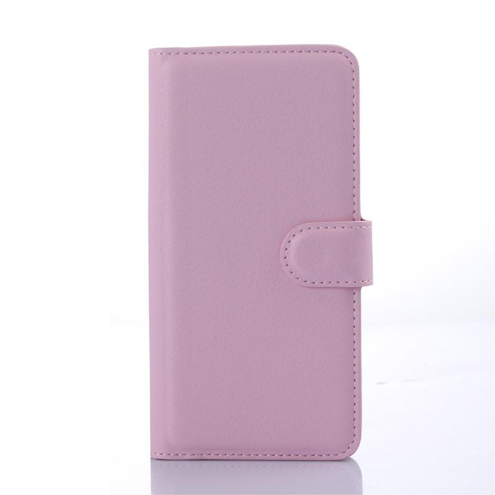 Image of HTC Desire 650 PU læder FlipCover m. Kortholder - Pink