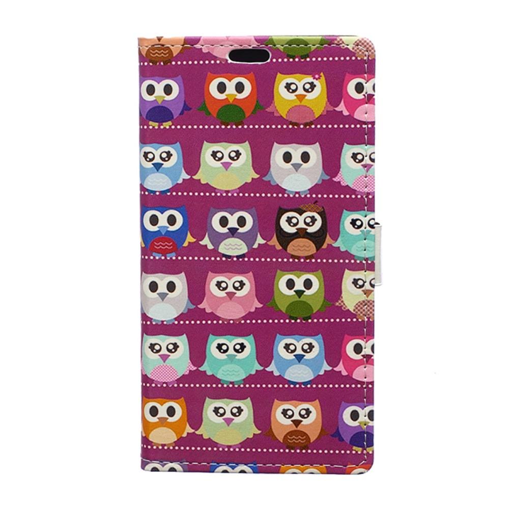 Billede af HTC U Ultra PU læder Flipcover m. Kortholder - Pink Owl Family