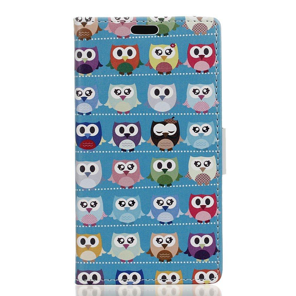 Billede af HTC U Ultra PU læder Flipcover m. Kortholder - Blue Owl Family