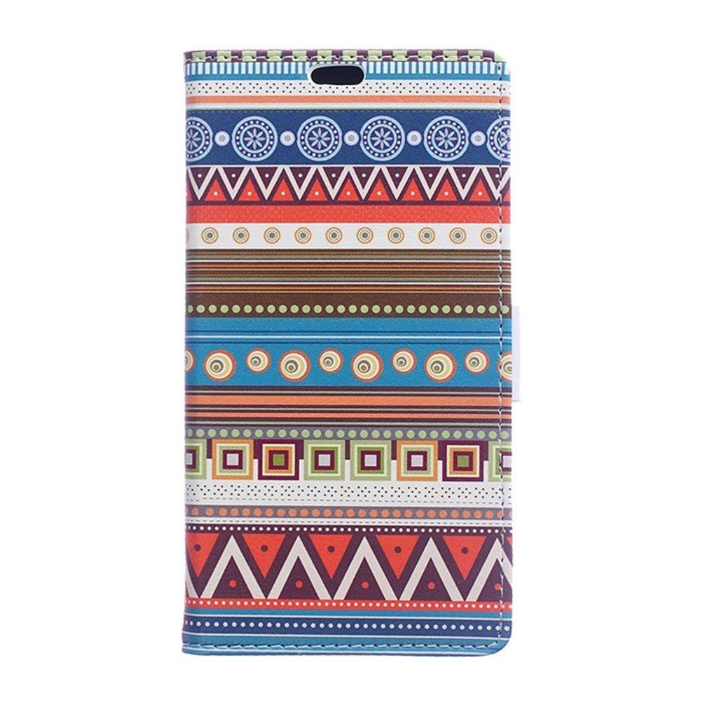 Billede af HTC U Ultra PU læder Flipcover m. Kortholder - Tribal Pattern
