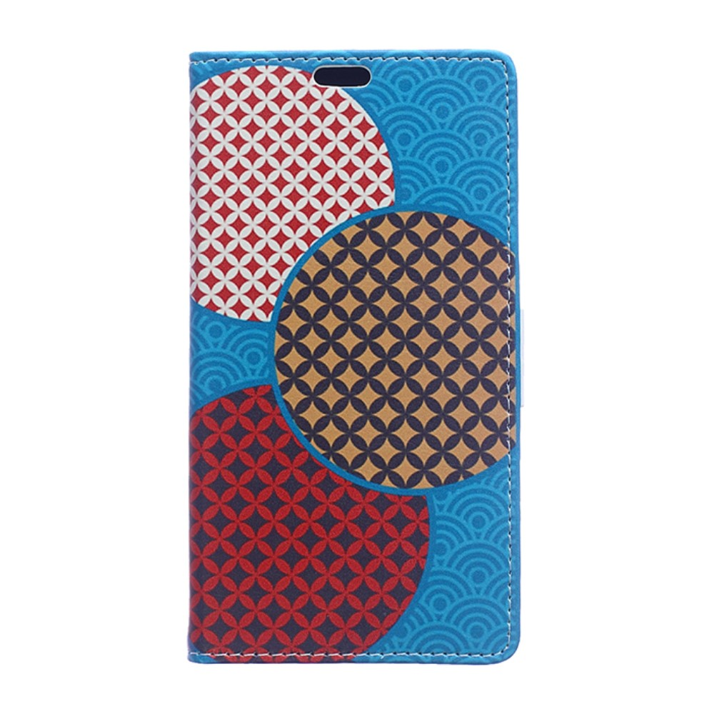 Billede af HTC U Ultra PU læder Flipcover m. Kortholder - Circles