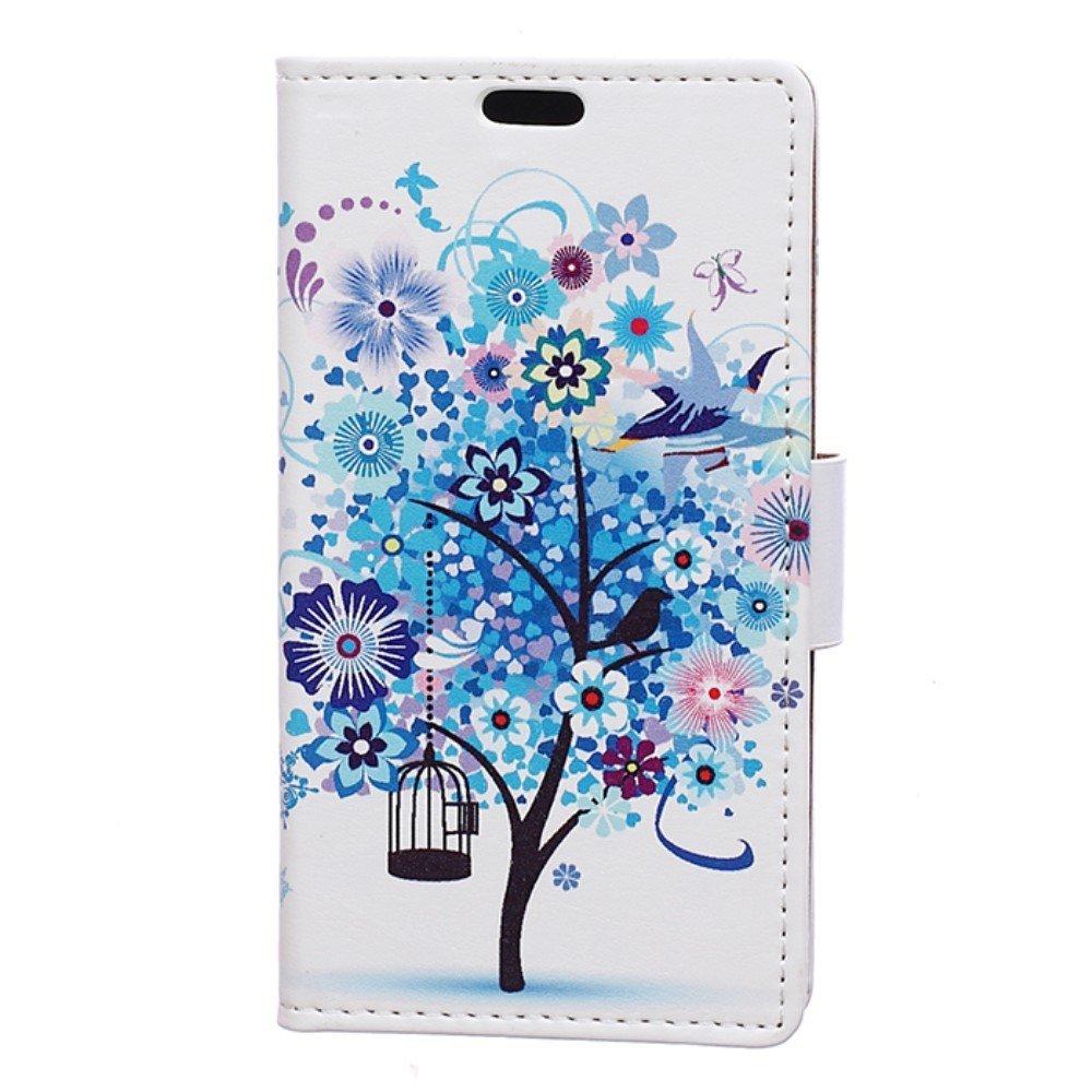 Billede af HTC U Play PU læder FlipCover m. Kortholder - Blue Tree