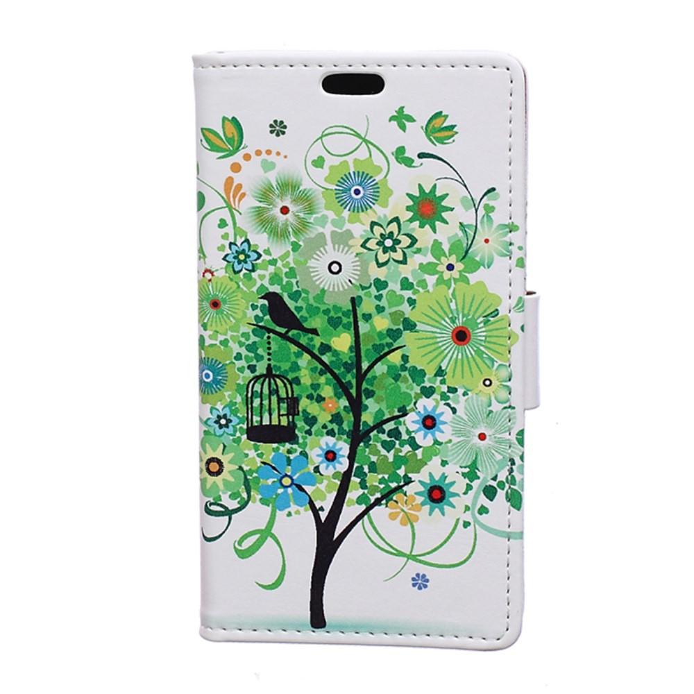 Billede af HTC U Play PU læder FlipCover m. Kortholder - Green Tree