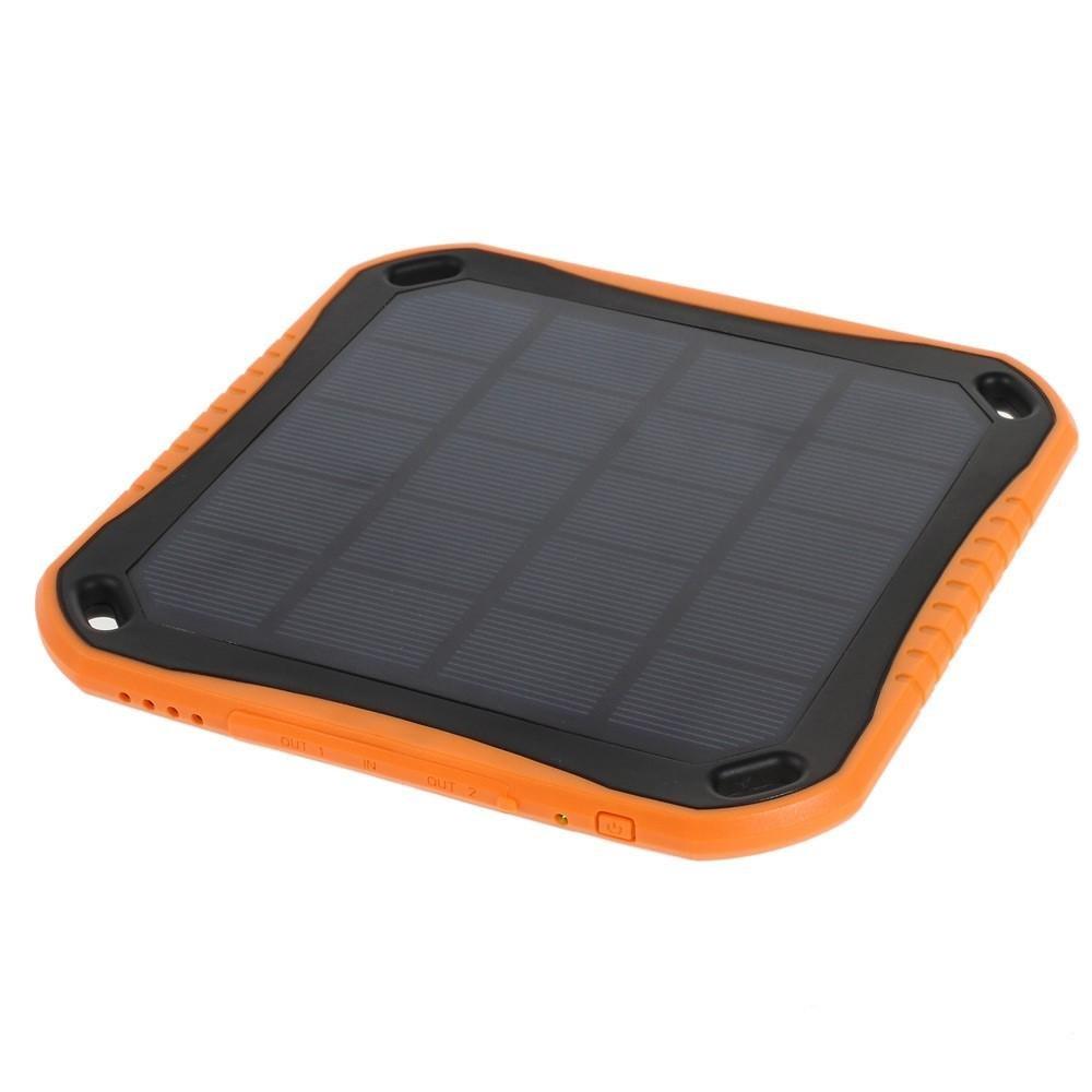 Image of   5600mAh PowerBank m. Solcelle - Orange