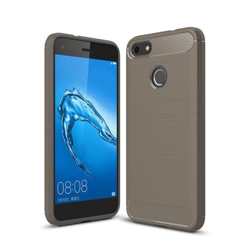 Billede af Huawei P9 Lite Mini Børstet TPU Cover - Grå