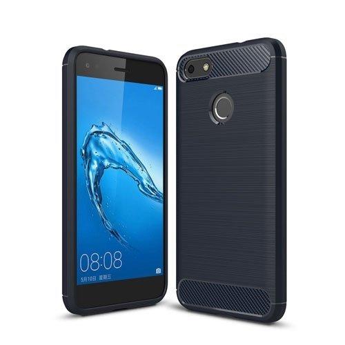Billede af Huawei P9 Lite Mini Børstet TPU Cover - Mørk Blå