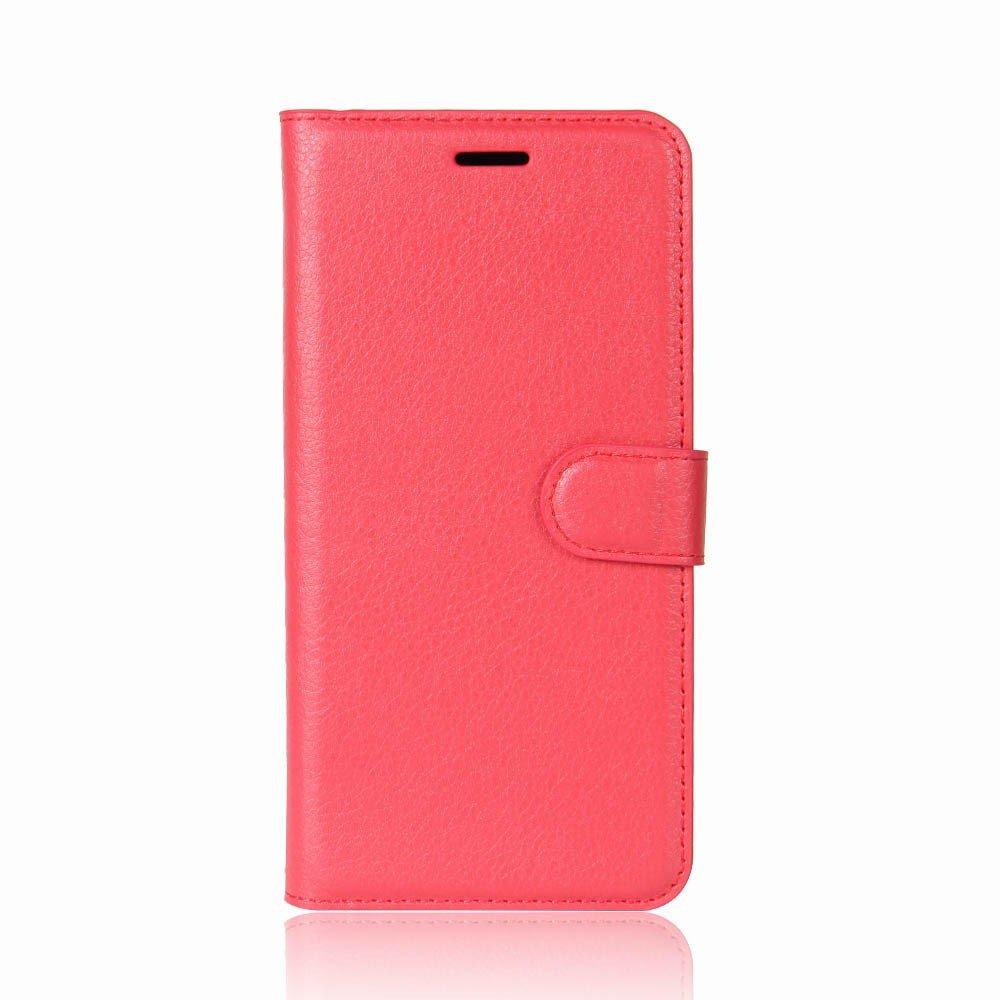Billede af Huawei P9 Lite Mini PU Læder Flipcover m. Kortholder - Rød