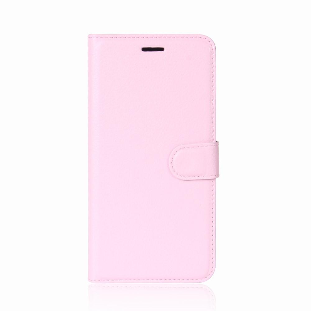 Billede af Huawei P9 Lite Mini PU Læder Flipcover m. Kortholder - Lyserød