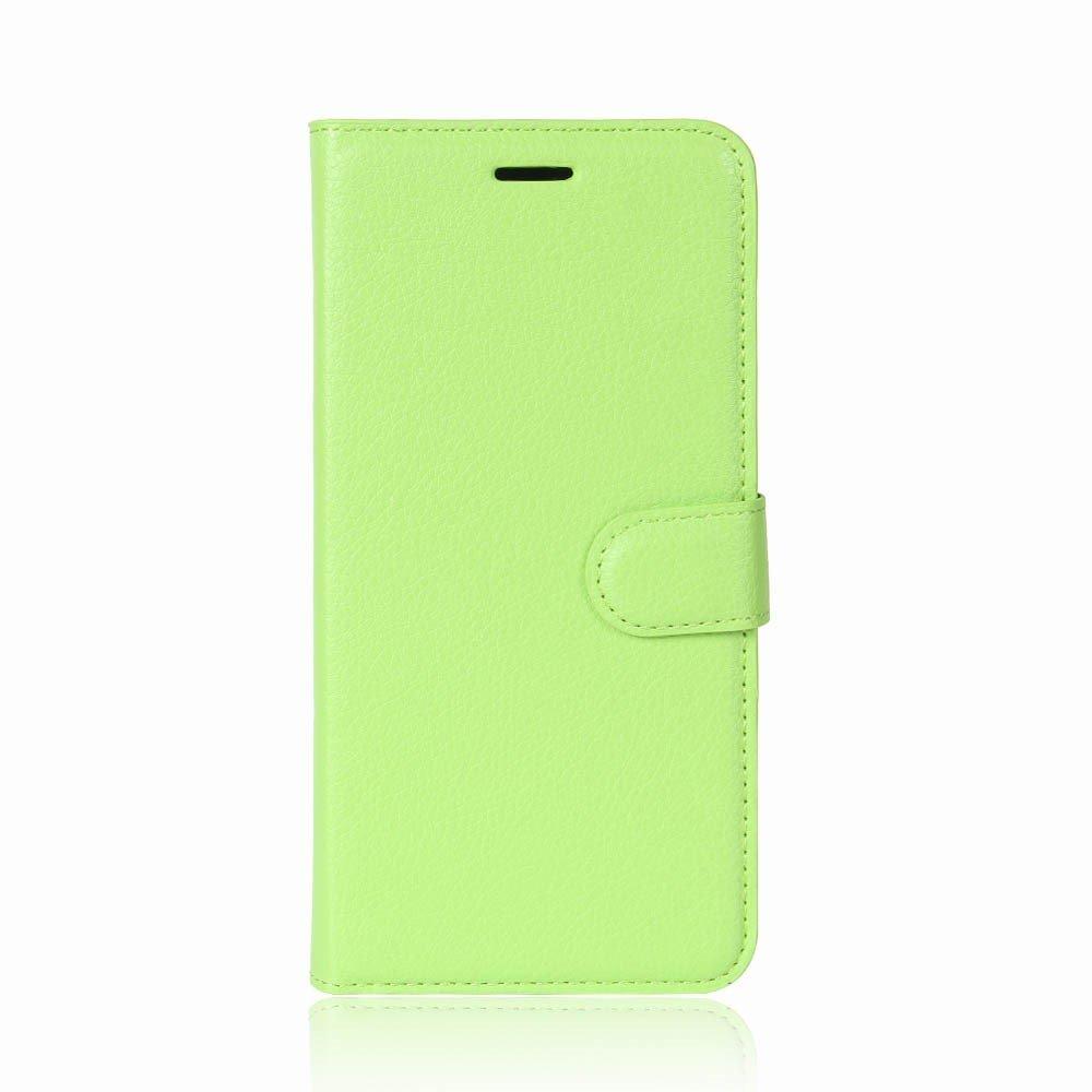 Billede af Huawei P9 Lite Mini PU Læder Flipcover m. Kortholder - Grøn
