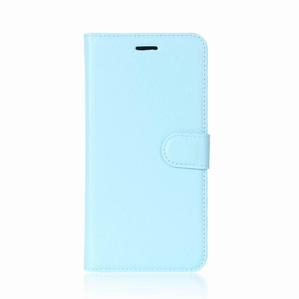 Billede af Huawei P9 Lite Mini PU Læder Flipcover m. Kortholder - Lys Blå