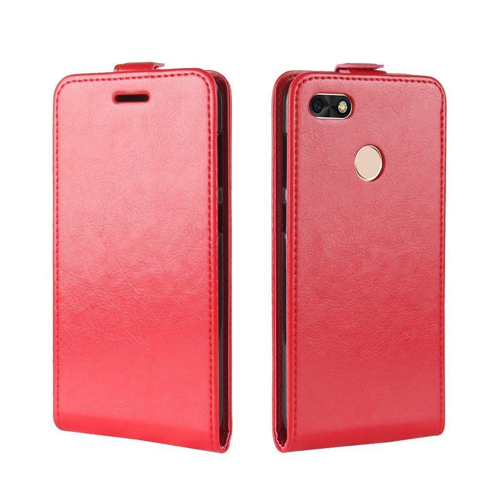 Billede af Huawei P9 Lite Mini Premium Vertikal Flipcover - Rød