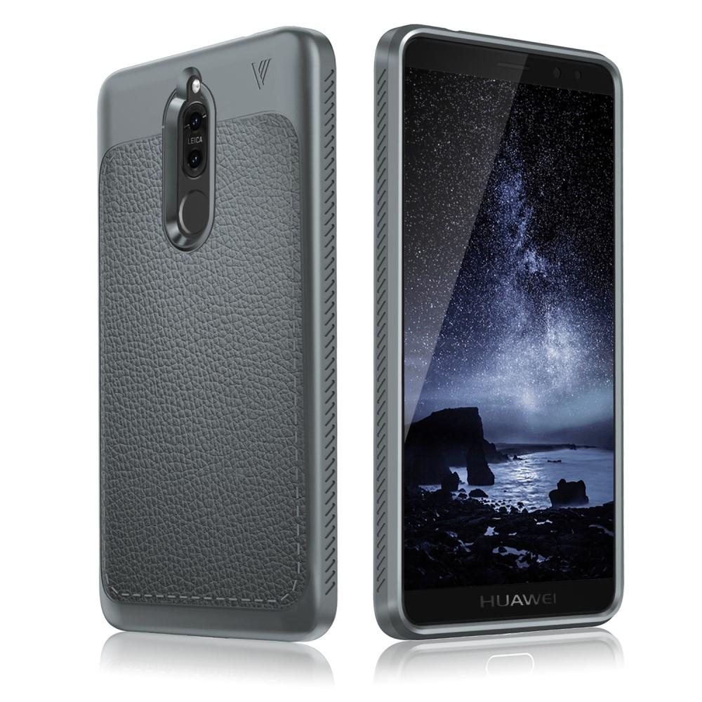 Billede af Huawei Mate 10 Lite IVSO TPU Cover Med Læderoverflade - Grå