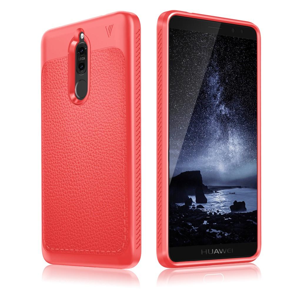 Billede af Huawei Mate 10 Lite IVSO TPU Cover Med Læderoverflade - Rød