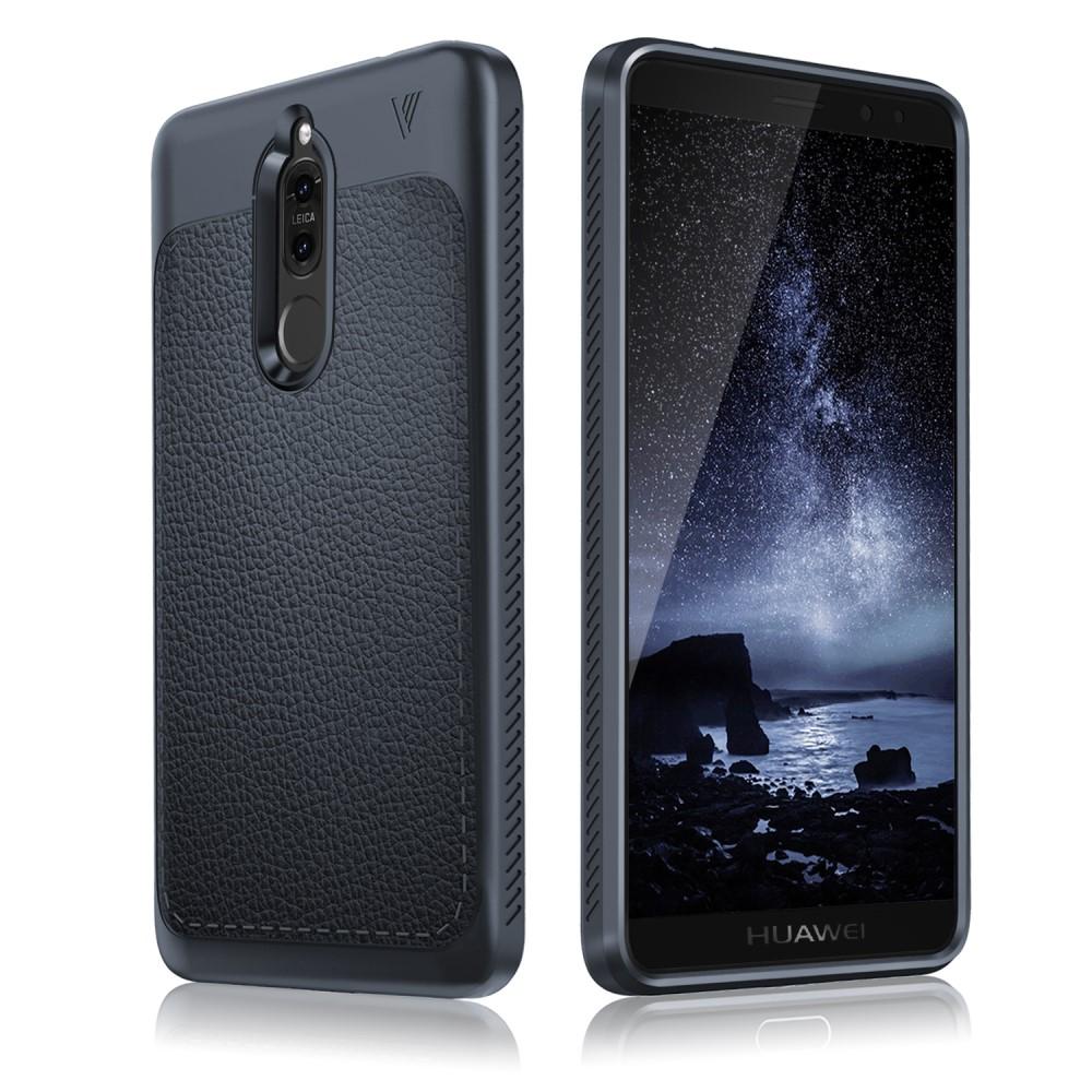 Billede af Huawei Mate 10 Lite IVSO TPU Cover Med Læderoverflade - Mørk Blå
