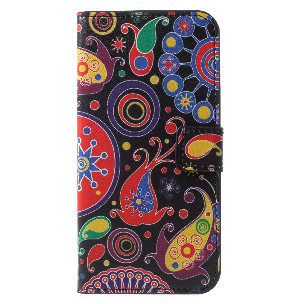 Image of Huawei P9 Lite Mini Design Flip Cover med Pung - Paisley Flowers