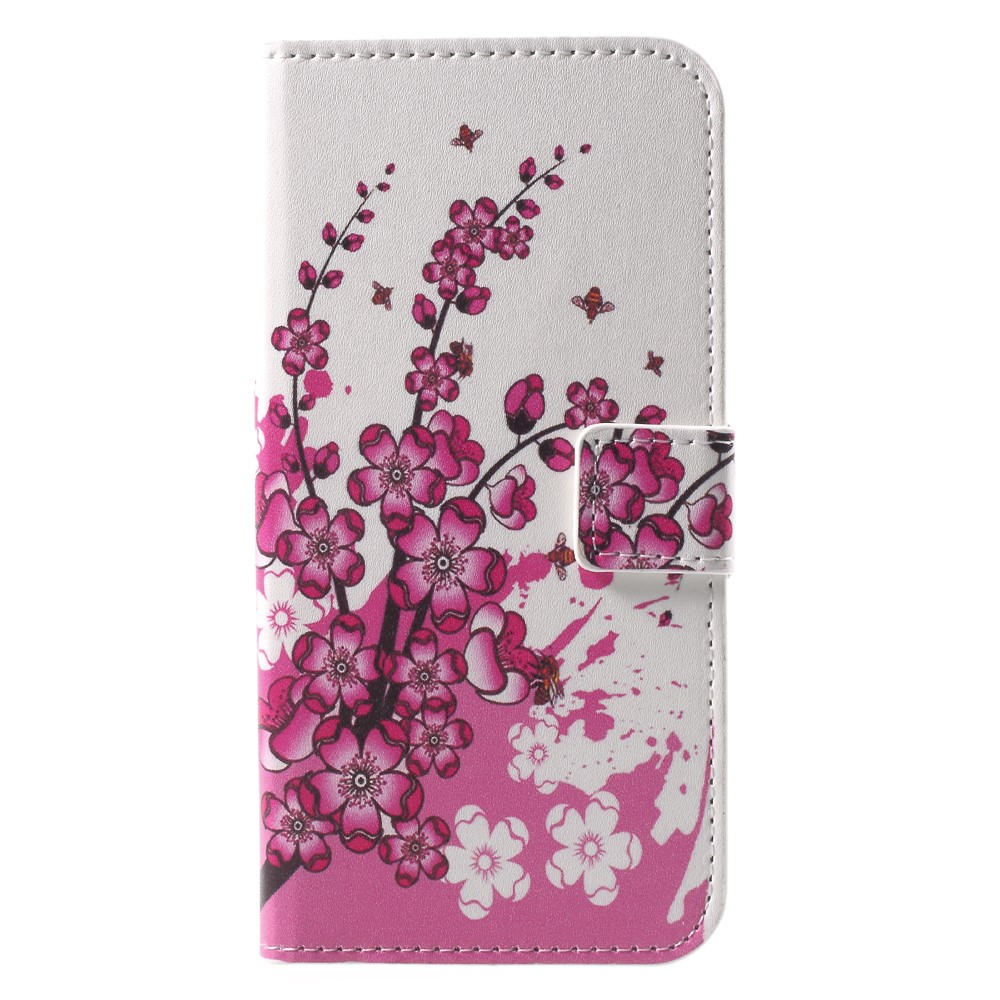 Billede af Huawei P9 Lite Mini Design Flip Cover med Pung - Plum Blossom