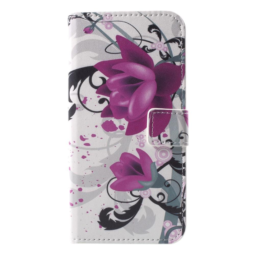 Billede af Huawei P9 Lite Mini Design Flip Cover med Pung - Kapok Flower