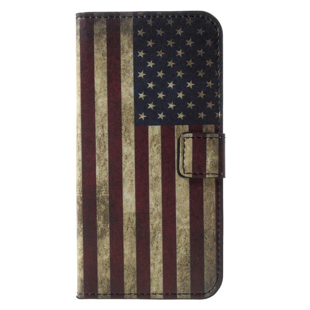 Billede af Huawei P9 Lite Mini Design Flip Cover med Pung - US Flag