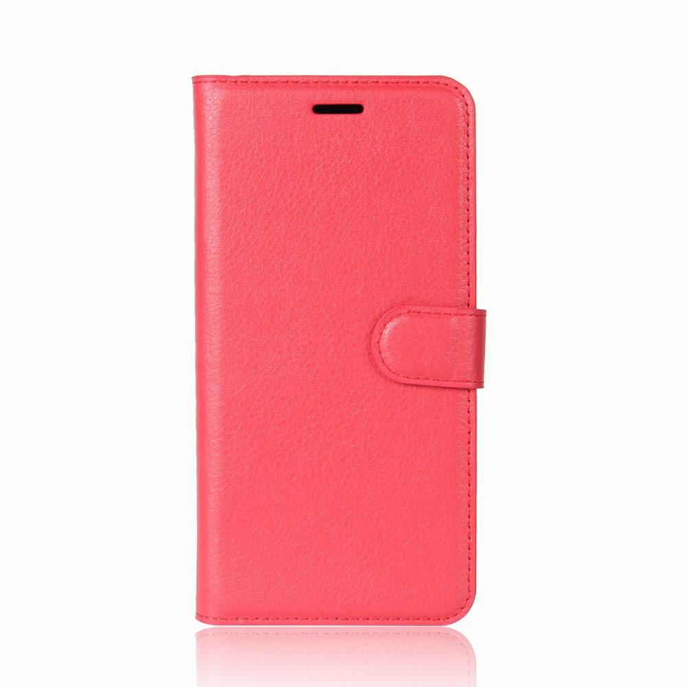 Billede af Huawei Mate 10 Lite PU læder Flipcover m. Kortholder - Rød