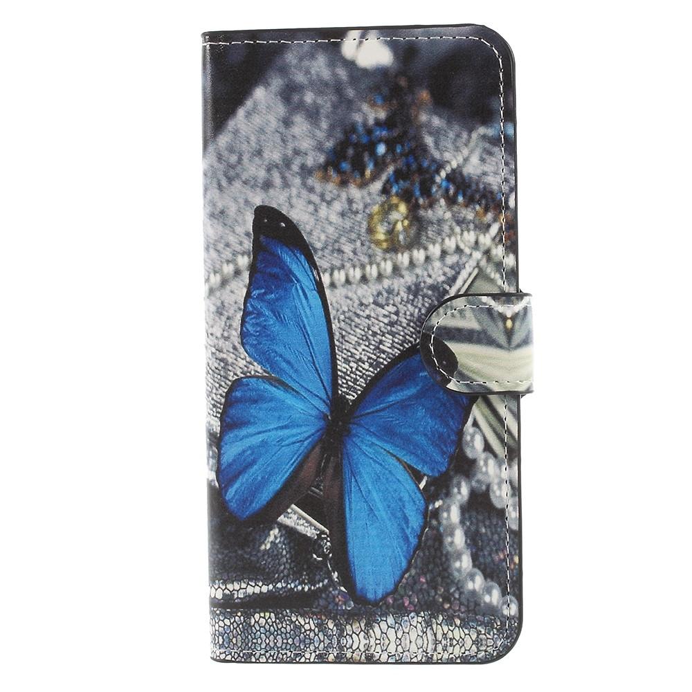 Billede af Huawei Mate 10 Lite PU læder Flipcover m. Kortholder - Blue Butterfly