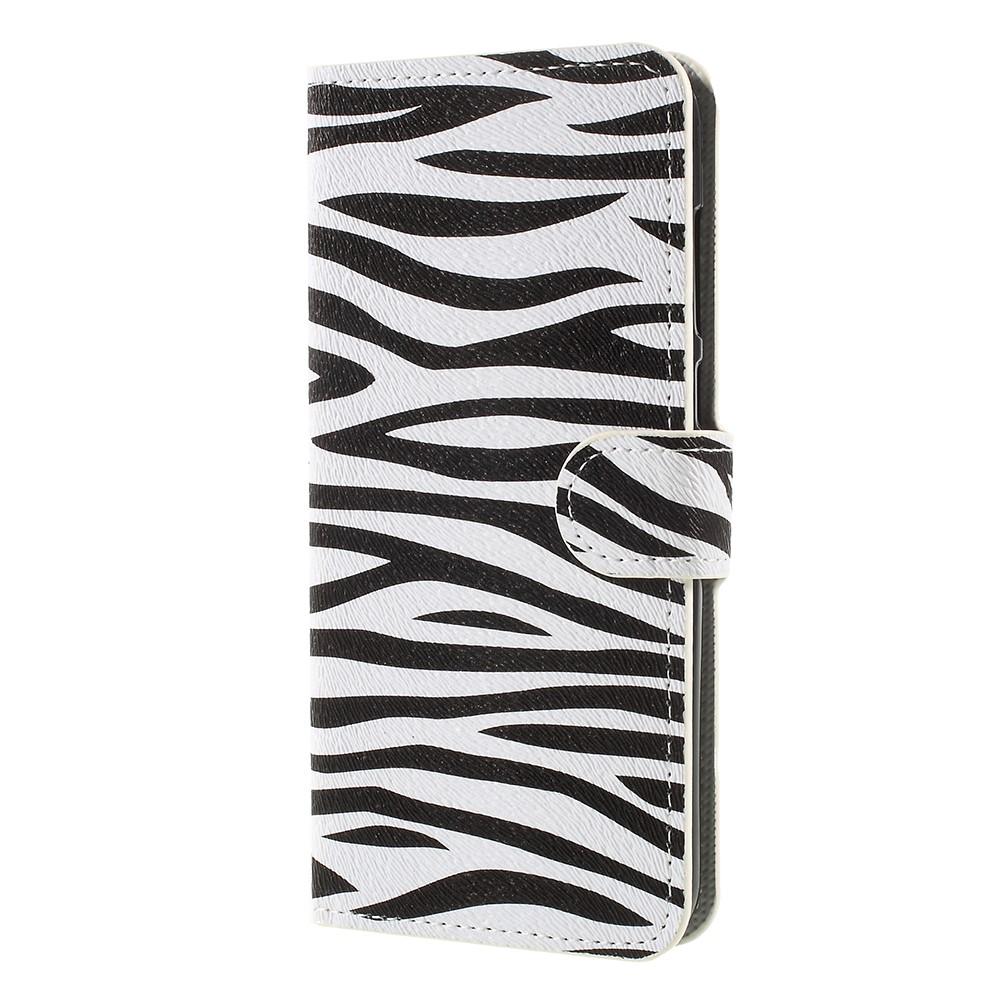 Billede af Huawei Mate 10 Lite PU læder Flipcover m. Kortholder - Zebra