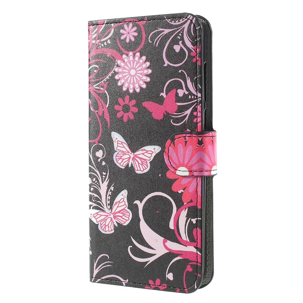 Billede af Huawei Mate 10 Lite PU læder Flipcover m. Kortholder - Butterfly Flower